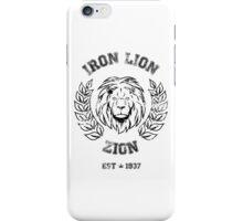 IRON LION ZION BOB MARLEY iPhone Case/Skin