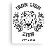 IRON LION ZION BOB MARLEY Canvas Print