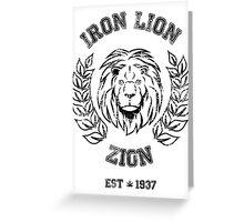 IRON LION ZION BOB MARLEY Greeting Card