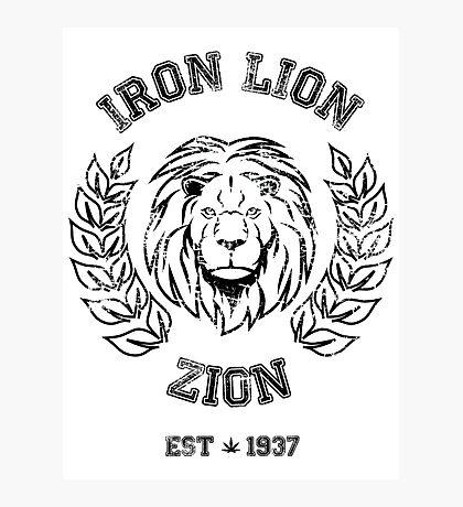 IRON LION ZION BOB MARLEY Photographic Print