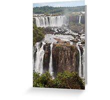 Iguazu Falls - Brazil Greeting Card