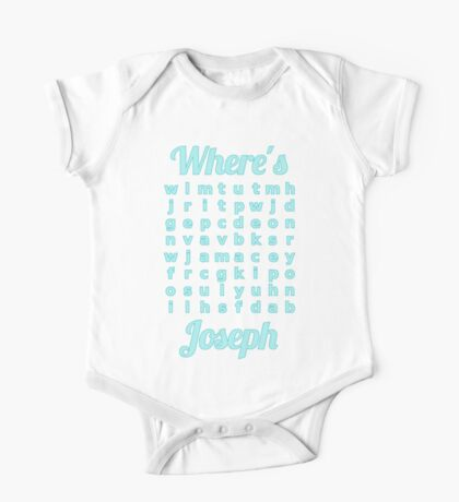 Baby Joseph learns word puzzle One Piece - Short Sleeve