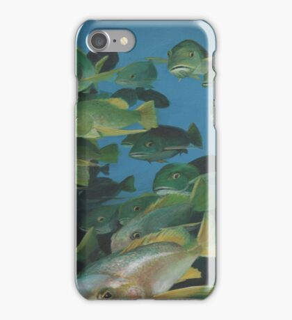 Dive into Yellow Tail Snapper Cave iPhone Case/Skin