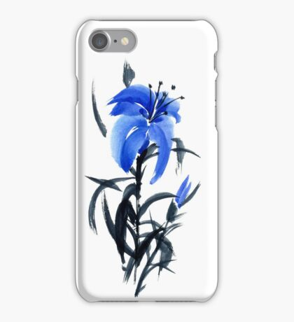 Blue lily iPhone Case/Skin