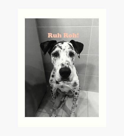 Ruh Roh! - Great Dane Art Print