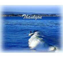 Thankyou card - surfing the wave Photographic Print
