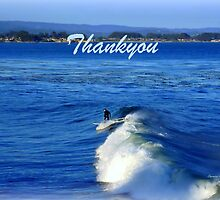 Thankyou card - surfing the wave by Charmiene Maxwell-Batten