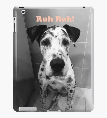 Ruh Roh! - Great Dane iPad Case/Skin