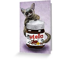 Sweet aim // galago and nutella Greeting Card
