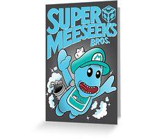 Super Meeseeks Bros. shirt iPhone iPad case pillow Greeting Card