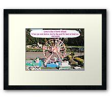 Love is like a Ferris Wheel Framed Print
