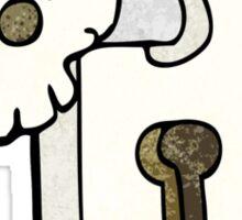 spooky skull doorknob Sticker