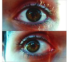 Eyes-Right and left Photographic Print