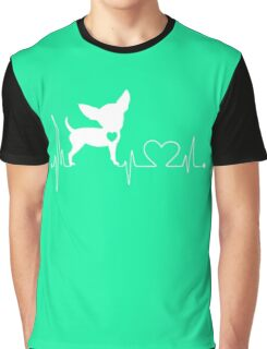 Funny Chihuahua, Chihuahua Heartbeat Graphic T-Shirt