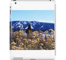 WINTERY PLANTS AND SNOW AT BIG BEAR LAKE iPad Case/Skin
