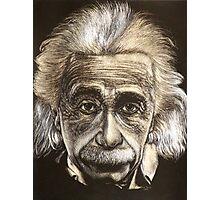 Einstein Tattoo Needle Scratch Art Photographic Print