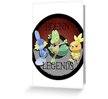Pokemon Hoenn Legends design Greeting Card