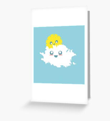 Cute Cloud Greeting Card