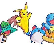 Hand drawn Pokemon by Wormy