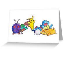 Hand drawn Pokemon Greeting Card