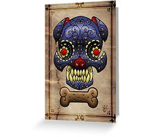 Boston Terrier Sugar skull. Greeting Card