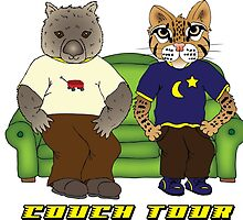 Wombat Ocelot Couch Tour by turtlebug17
