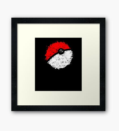 Poké Ball Framed Print