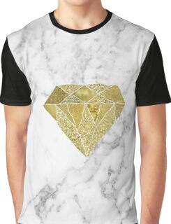 Gold diamond on marble Graphic T-Shirt
