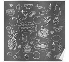Fruity Drawings Poster