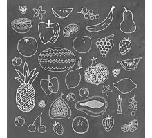 Fruity Drawings Photographic Print