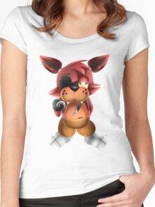 Chibi Foxy Fox Women's Fitted Scoop T-Shirt