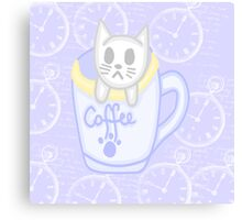 Cat in a cup  Canvas Print