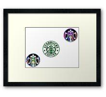 Tie Dye Cute Starbucks Pack Framed Print