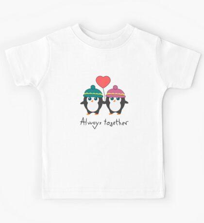 Cute penguins always together Kids Tee
