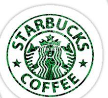 Tie Dye Cute Starbucks Pack Sticker