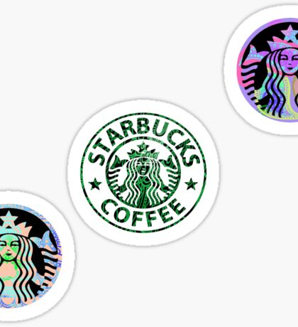 Tie Dye Cute Starbucks Pack Sticker