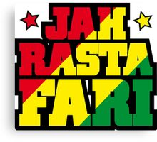 Jah Rastafari Canvas Print