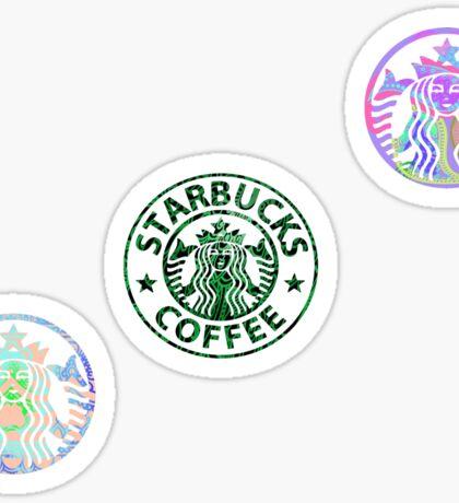 Tie Dye Cute Starbucks Pack (Clear) Sticker