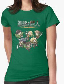 Shingeki no Chibi Womens Fitted T-Shirt