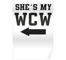 She's My WCW / He's My MCM Best Friends Shirts, Matching Shirts, Bff, Besties, Pairs,  Poster