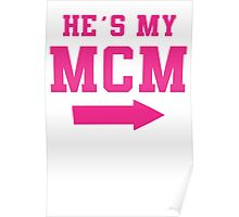 He's My MCM / She's My WCW Best Friends Shirts, Couples Shirts, Matching, BFF, Besties, Selfie Shirts Poster