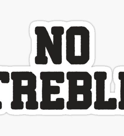 All Bass / No Treble 2/2, All About That Bass Best Friends T Shirts, Bff, Besties, Matching Shirts Sticker