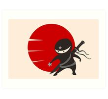 LITTLE NINJA STAR Art Print
