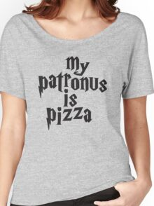 My Patronus Is Pizza, Funny Harry Potter Pizza Shirt, Quote Women's Relaxed Fit T-Shirt