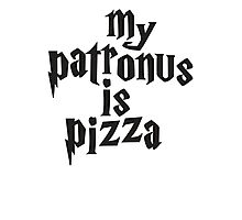 My Patronus Is Pizza, Funny Harry Potter Pizza Shirt, Quote Photographic Print