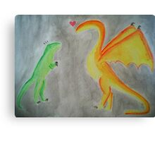 Rawrlove -- Watercolor Canvas Print