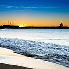 Sunrise over the Marina Wall by Ralph Goldsmith