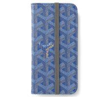 Goyard blue iPhone Wallet/Case/Skin