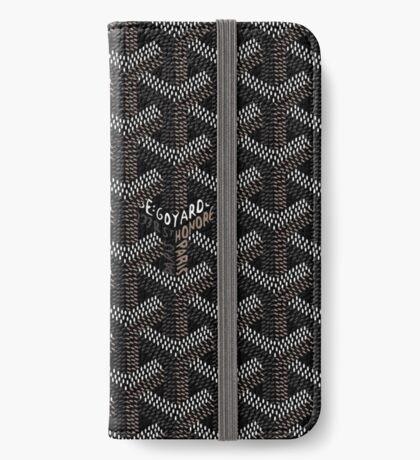 Goyard Black iPhone Wallet/Case/Skin