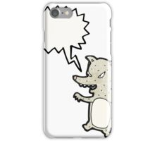 cartoon clever wolf iPhone Case/Skin